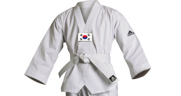 Cinturón blanco 8º gup en Taekwondo