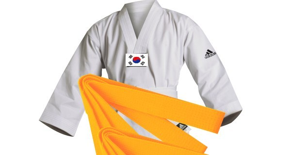 Cinturón naranja 6º gup en Taekwondo