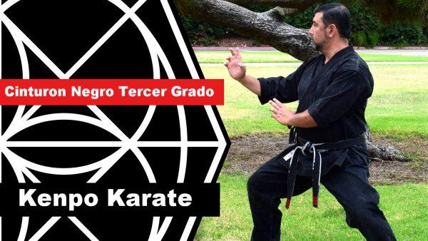 Cinturón Negro Tercer Grado en Kenpo Karate